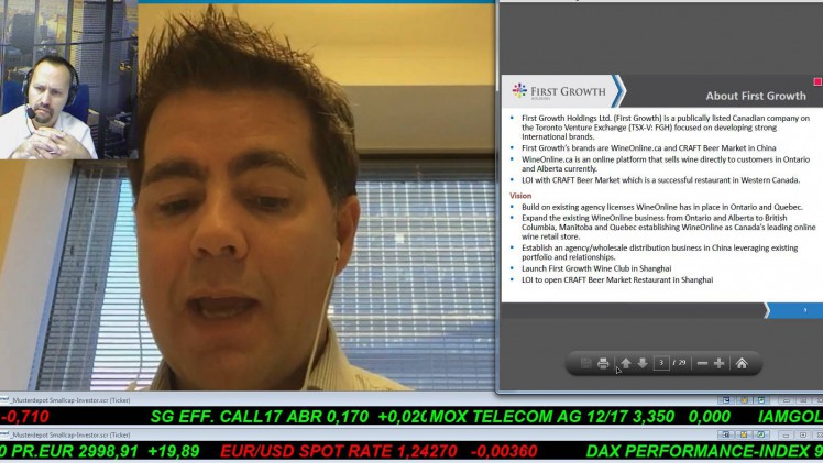 Smallcap-Investor Talk 296 mit Paul Guedes von First Growth Holdings