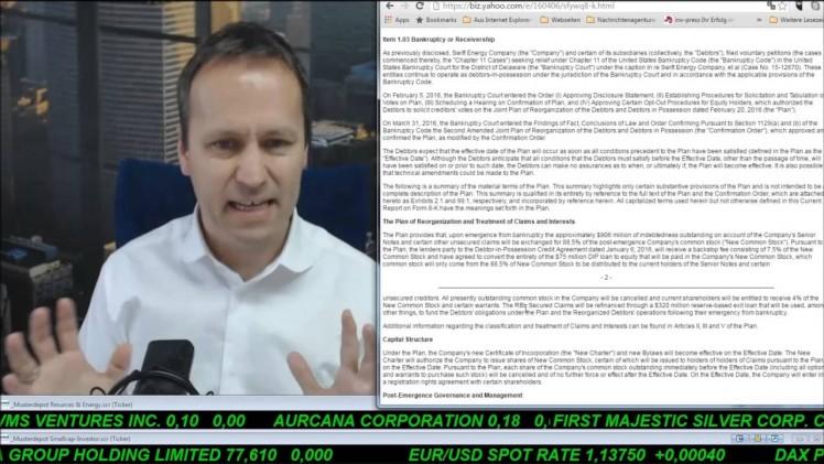 SmallCap-Investor Talk 540 über DAX, Gold, Chapter 11 bei Linn, Energy XXI und Breitburn