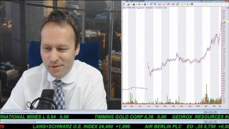 SmallCap-Investor Talk 541 über DAX, Gold, Goldaktien, VMS Venture, Ölpreis, Ölanleihen