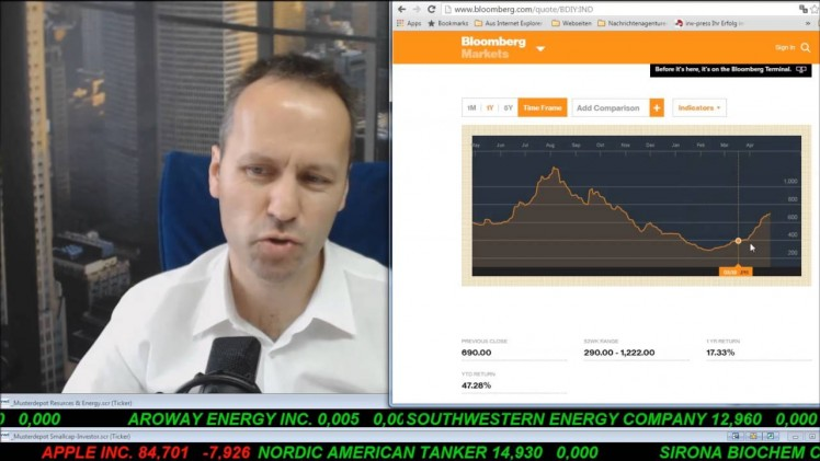 SmallCap-Investor Talk 551 über DAX, Gold, Öl, Nordic Amer. Tankers, Memorial usw.
