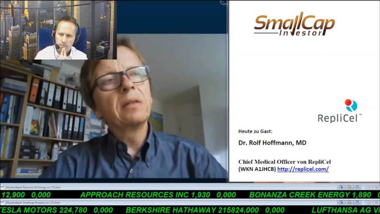 SmallCap-Investor Interview mit Dr. Rolf Hoffmann von RepliCel (WKN A1JHCB)