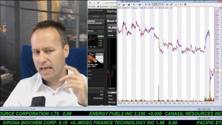 SmallCap-Investor Talk 587 über DAX, Gold, Öl, Ölwerte wie Bonanza, Blackbird (IK), Canacol (IK), …