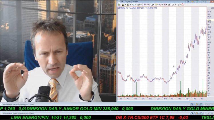 SmallCap-Investor Talk 581 über DAX, Gold, Silberaktien, Öl, KTG Agrar Insolvenz und Anleihen
