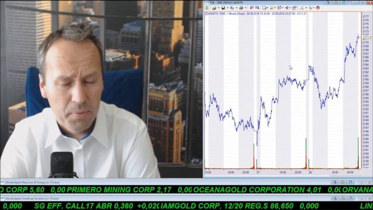 SmallCap-Investor Talk 610 zu OPEC kürzt die Förderung, Öl, Ölaktien, Blackbird, S&P 500