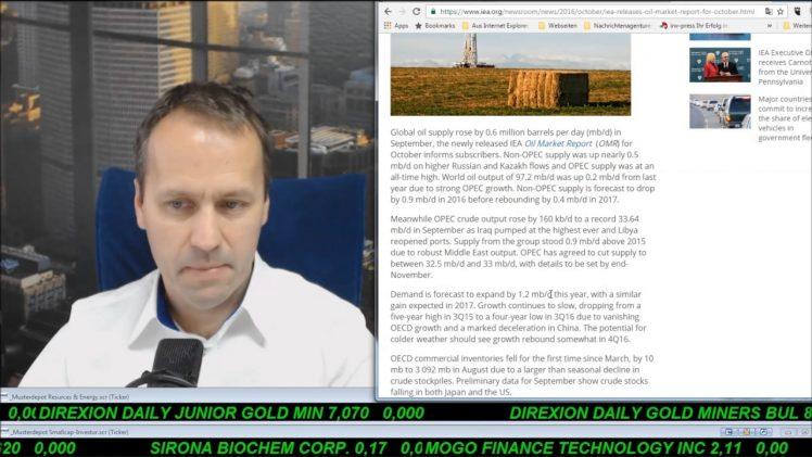 SmallCap-Investor Talk 629 – OPEC kürzt die Produktion
