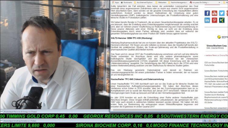 SmallCap-Investor Talk 633 über Öl, Memorial, Copper Mountain, Sirona, Pacific Ethanol und MoGo