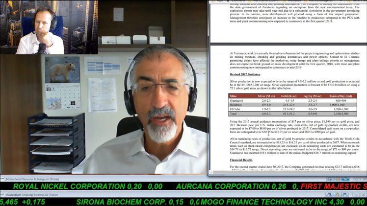 SmallCap-Investor Interview mit Bradford Cooke von Endeavour Silver (IK)