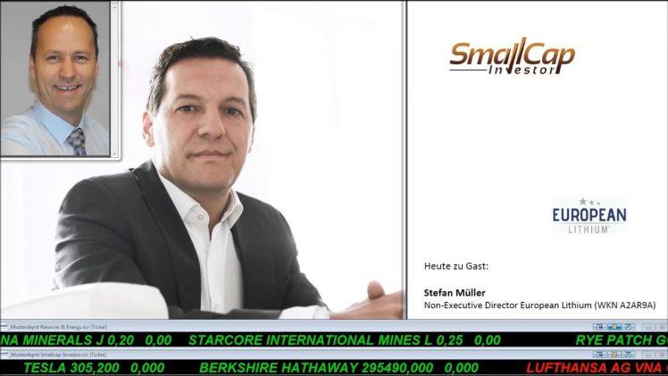 SmallCap-Investor Interview-PP-Update mit Stefan Müller, Direktor European Lithium (WKN A2AR9A)
