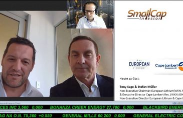 SmallCap-Investor Interview Update mit Stefan Müller, Direktor European Lithium (WKN A2AR9A)