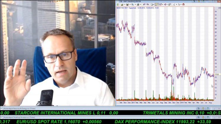SmallCap-Investor Talk 809 über DAX, Royal Nickel, Eldorado Gold, GE, Mattel, Dialog, JD.com