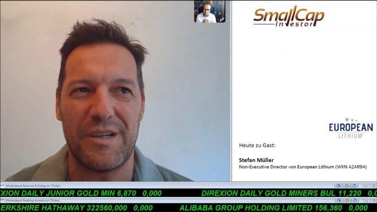 SmallCap-Investor Interview mit Stefan Müller, Non-Executive Direktor European Lithium (WKN A2AR9A)
