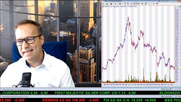 SmallCap-Investor Talk 811 über DAX, L Brands, Fresenius, Tui, Metro, Bet-at-Home, Gold, Caledonia