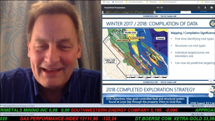 SmallCap-Investor Interview mit Peter Tallman, CEO & President von Klondike Gold (WKN  A119BJ)