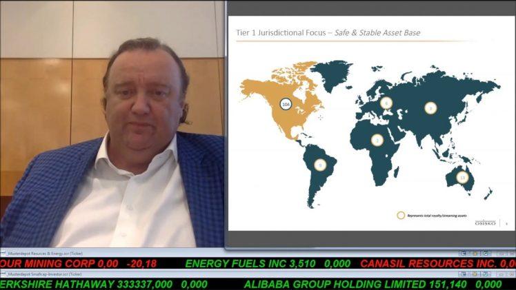 SmallCap-Investor Interview mit Sean Roosen, CEO & Chairman von Osisko Gold Royalties (WKN A115K2)