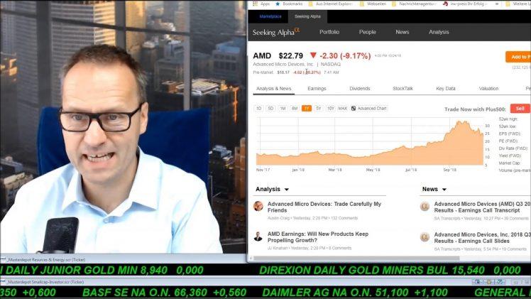 SmallCap-Investor Talk 828 über Dow, Nasdaq, DAX und Quartalszahlen
