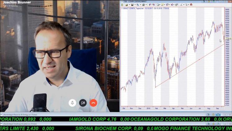 SmallCap-Investor Talk 819 über DAX, Nasdaq, Gold, Öl, Osisko, Bet-at-Home, Freenet