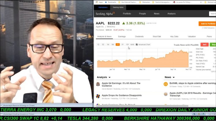 SmallCap-Investor Talk 833 über DAX, Nasdaq, Gold, Apple, Newell, Dialog, Bet-at-home, …