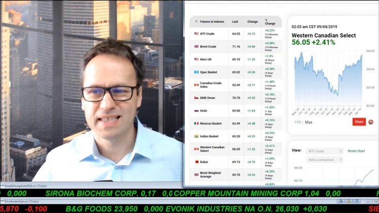 SmallCap-Investor Talk 888 über Boeing, Airbus, Novartis, Öl, Trevali, K92, Energy Fuels