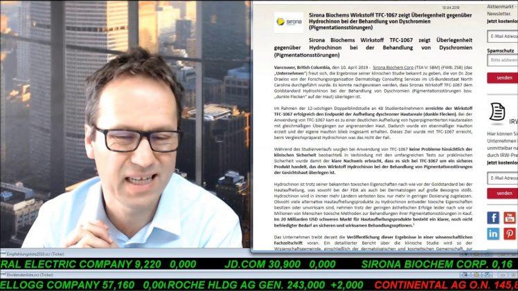 SmallCap-Investor Talk 889 über Gold, Sirona und Saturn Oil