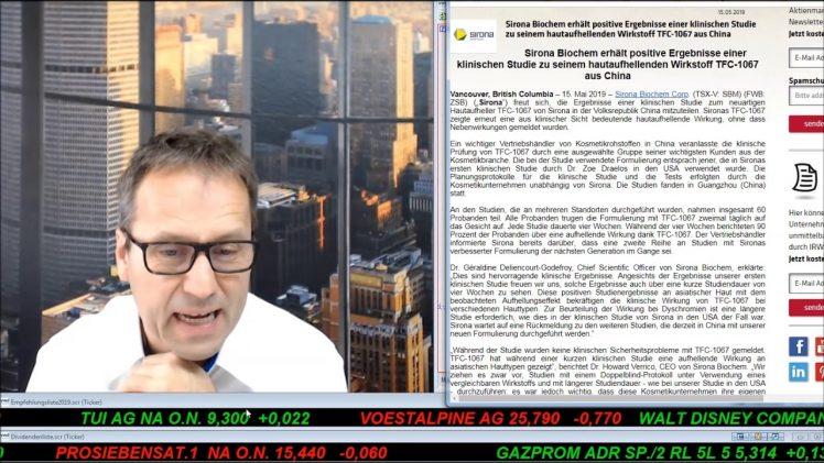 SmallCap-Investor Talk 900 über TUI, Gazprom, MoGo und Sirona