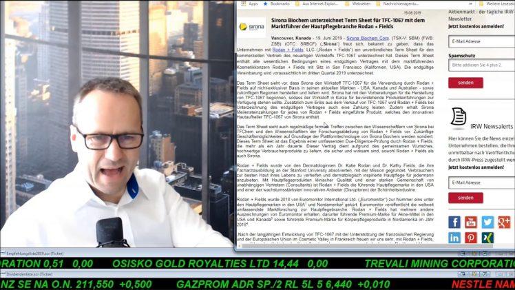 SmallCap-Investor Talk 912 über Gold, Pipestone und Sirona