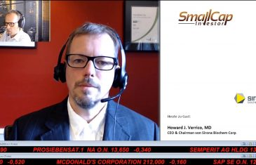 SmallCap-Investor Interview mit Howard J. Verrico MD, CEO von Sirona BioChem (WKN A0RM6R)