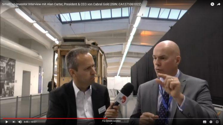 SmallCap-Investor Interview mit Alan Carter, President & CEO von Cabral Gold (ISIN: CA1271061022)