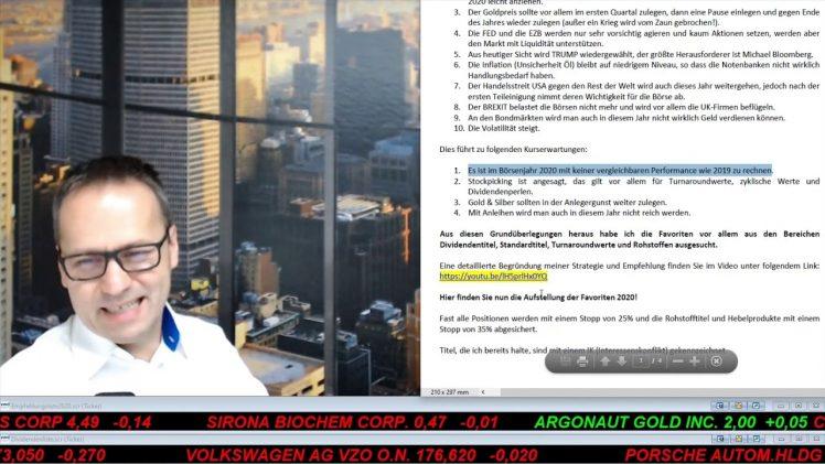 SmallCap-Investor Empfehlungsliste 2020