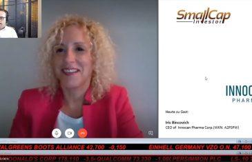 SmallCap-Investor Interview mit Iris Bincovich, CEO von InnoCan Pharma Corp. (WKN A2PSPW)