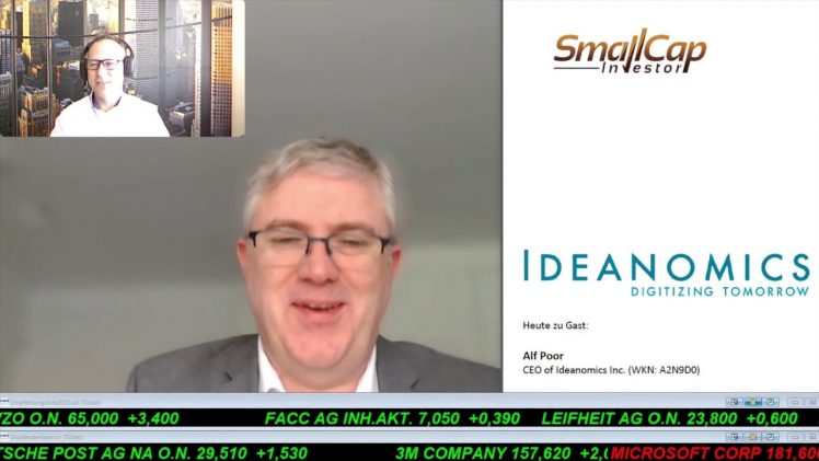 SmallCap-Investor Interview mit Alf Poor, CEO von Ideanomics Inc. (WKN A2N9D0)