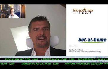 SmallCap-Investor Interview mit DI Franz Ömer, CEO von bet-at-home.com AG (WKN A0DNAY)