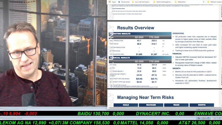 SmallCap-Investor Talk 1098 über DAX, Dow, IBM, OceanaGold