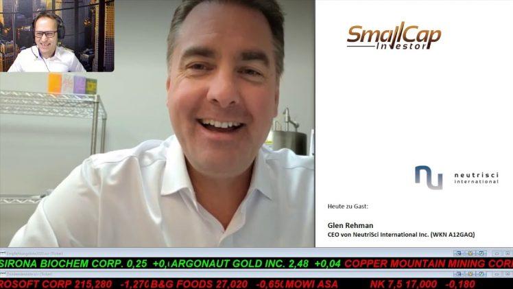 SmallCap-Investor Interview mit Glen Rehman, CEO von NeutriSci International Inc. (WKN A12GAQ)(IK)