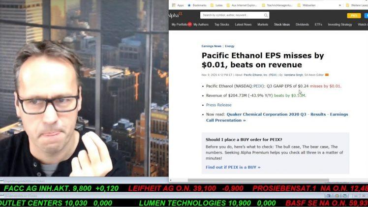 SmallCap-Investor Talk 1108 über Dow, Gold, TUI, Schaeffler, …