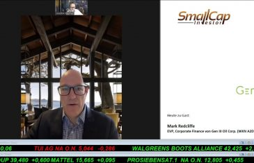 SmallCap-Investor Interview mit Mark Redcliffe, EVP & Corporate Finance Gen III Oil (WKN A2DYXJ)