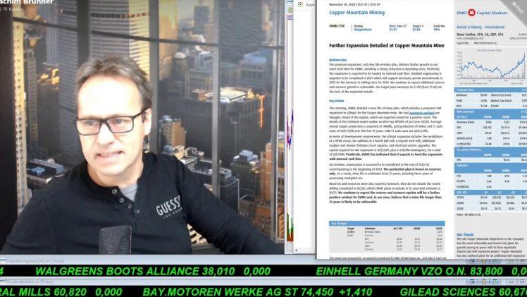SmallCap-Investor Talk 1110 über MoGo, Copper Mountain, Trevali, …