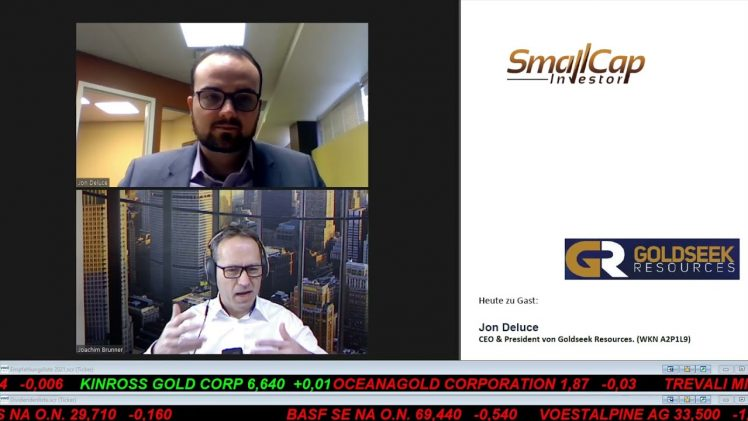 SmallCap-Investor Interview mit Jon Deluce, CEO & President von Goldseek Resources (WKN A2P1L9)