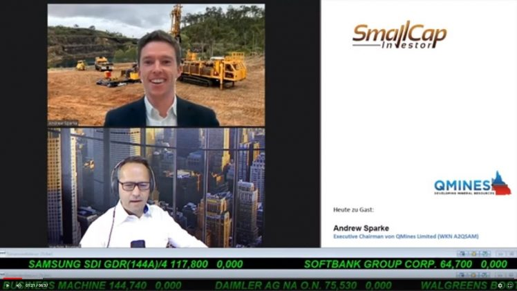 SmallCap-Investor Interview mit Andrew Sparke, Executive Chairman von QMines Limited (WKN A2QSAM)