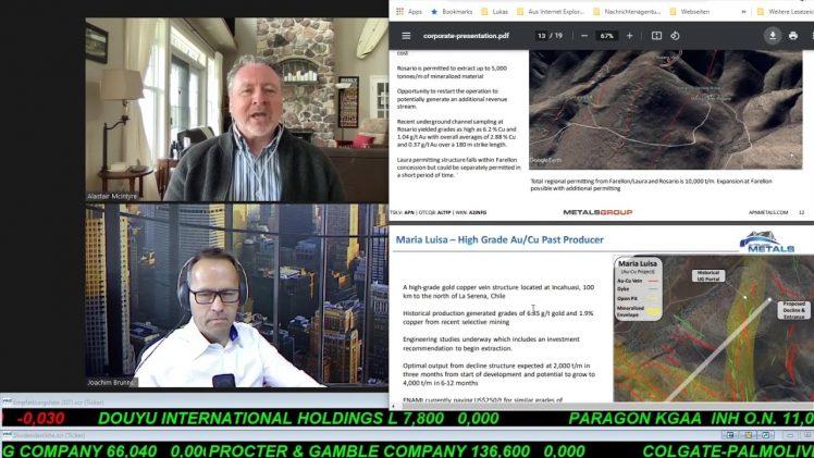 SmallCap-Investor Interview mit Alastair McIntyre, CEO von Altiplano Metals (WKN A2JNFG)