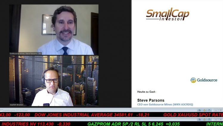 SmallCap-Investor Interview mit Steve Parsons, CEO von Goldsource Mines (WKN A3CRDQ)