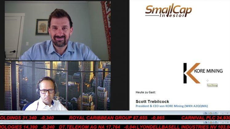 SmallCap-Investor Interview mit Scott Trebilcock, CEO & President von KORE Mining (WKN A2QQMA)