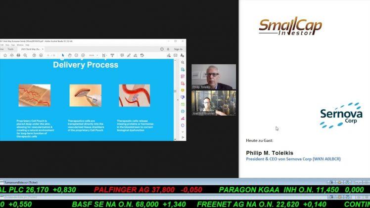 SmallCap-Investor Interview mit Philip M. Toleikis, CEO & President von Sernova Corp. (WKN A0LBCR)