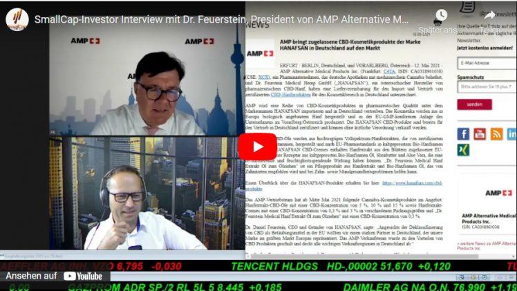 SmallCap-Investor Interview mit Dr. Feuerstein, President von AMP Alternative Medical (WKN A2QNUQ)